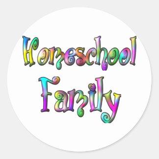 Homeschool家族 ラウンドシール