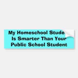 Homeschool対公立学校 バンパーステッカー