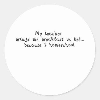 Homeschool breakfast.jpg ラウンドシール