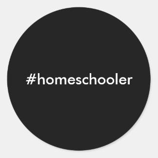 #homeschoolerのステッカー ラウンドシール