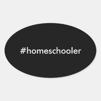 #homeschoolerの楕円形のステッカー 楕円形シール