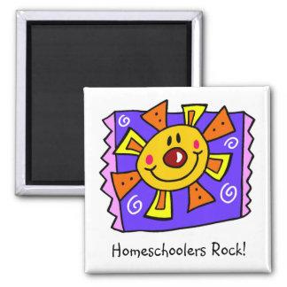 Homeschoolersの石の紫色の日曜日の磁石 マグネット