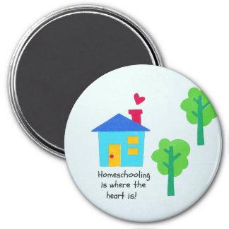 Homeschoolingはハートがあるところにです マグネット