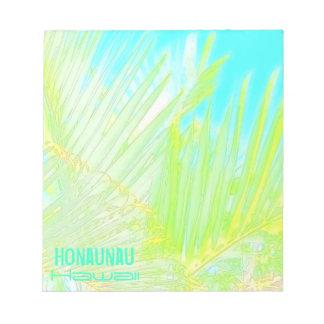 Honaunauハワイのやしメモ帳 ノートパッド