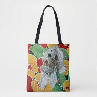 Honey Cocker Spaniel Dog Painting トートバッグ