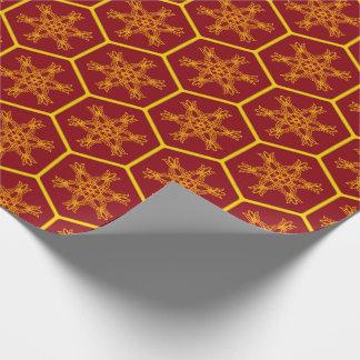 Honeycomb drawing pattern ラッピングペーパー