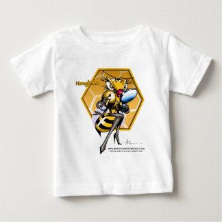 HONEYLICIOUSの蜜蜂の巣 ベビーTシャツ