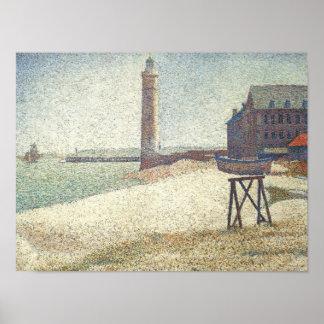 Honfleurの灯台 ポスター