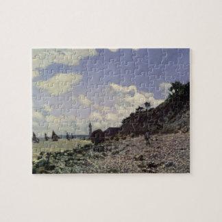 Honfleur 1864年のクロード・モネ|のビーチ ジグソーパズル