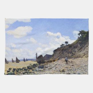 Honfleur、1865年のクロード・モネのビーチ キッチンタオル