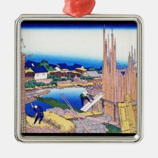 Honjo TatekawaのHonjo Hokusaiのtimberyard メタルオーナメント
