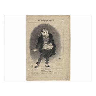 Honore Daumier著アンリーMonnier ポストカード