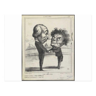 Honore Daumier著エマニュエルArago ポストカード