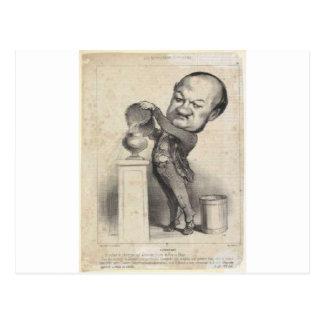 Honore Daumier著MarieマイケルAltaroche ポストカード
