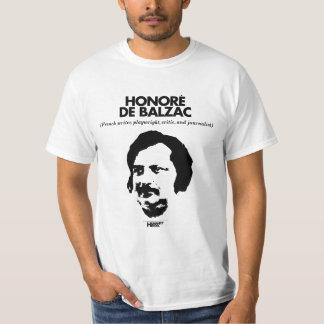 Honore? De Balzacの白のTシャツ Tシャツ