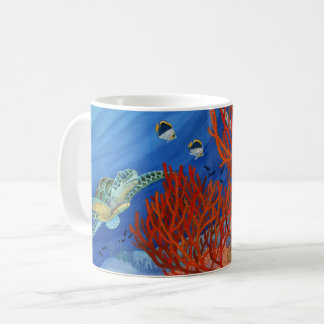 Honuおよび黒い珊瑚 コーヒーマグカップ