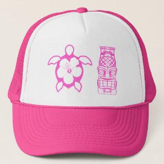 HonuおよびTikiのピンクのマスク キャップ