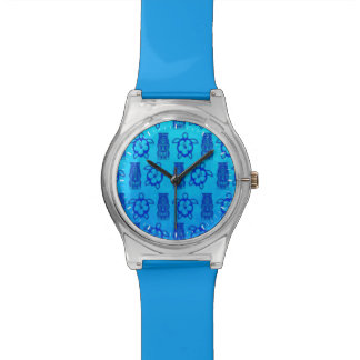 HonuおよびTikiの青いマスク 腕時計