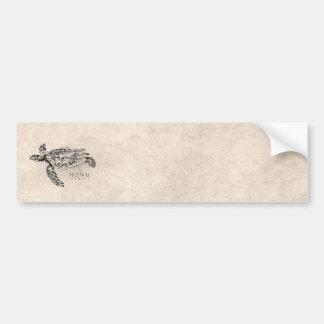 Honuのヴィンテージの羊皮紙のハワイのウミガメ バンパーステッカー
