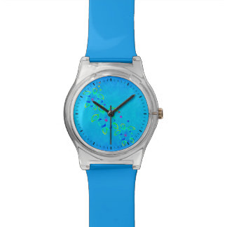 Honuの3匹のタイによって染められるカメ 腕時計