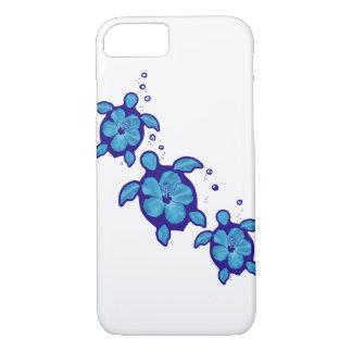 Honuの3匹の青いカメ iPhone 7ケース