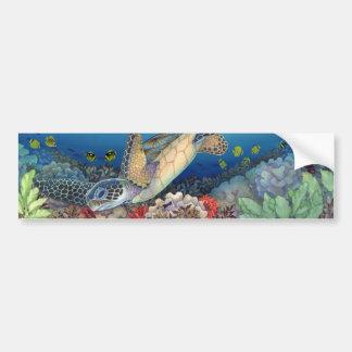 Honu (緑のウミガメ) バンパーステッカー