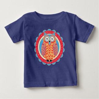 Hoo Hooの夜型の人のかわいい子供の漫画 ベビーTシャツ