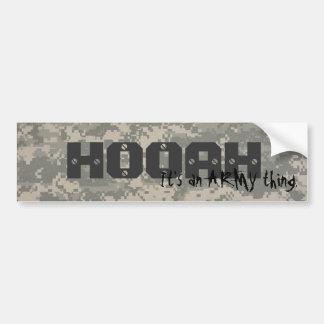 、HOOAHデジタル、それは軍隊の事です バンパーステッカー