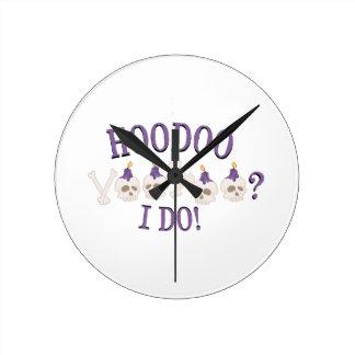 Hoodooのスカル ラウンド壁時計