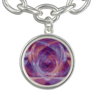 Ho'oponoponoの紫色の煙 チャームブレスレット