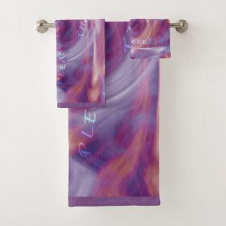 Ho'oponoponoの紫色の煙 バスタオルセット