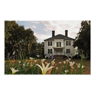 Hopsewee Plantation House in Winter ポスター
