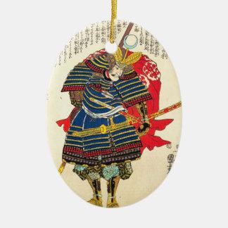 Horimoto Gidayû Takatoshiのutagawaのkuniyoshi セラミックオーナメント