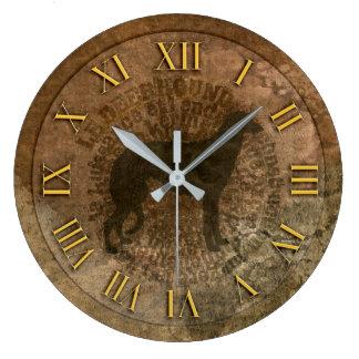 Horloge scottish deerhound ラージ壁時計