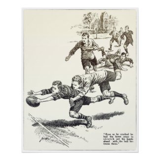 Horse Sense - Vintage Rugby Archival Print ポスター