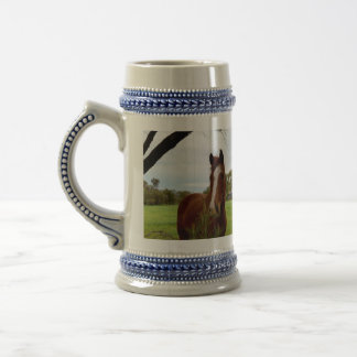 Horse_Smelling_A_Bushの_Beer_Stein_Mug ビールジョッキ