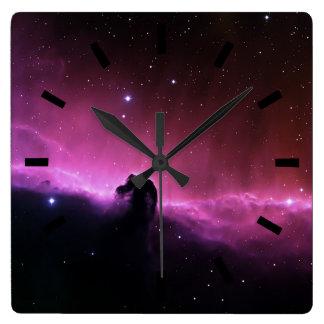 Horseheadの星雲のBarnard 33 NASA スクエア壁時計