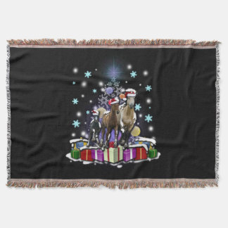 Horses with Christmas Styles スローブランケット