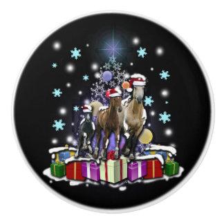 Horses with Christmas Styles セラミックノブ