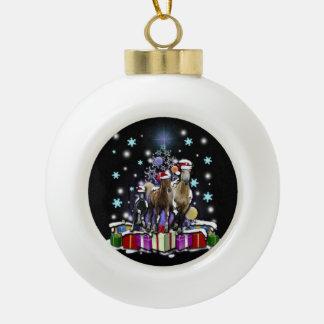 Horses with Christmas Styles セラミックボールオーナメント