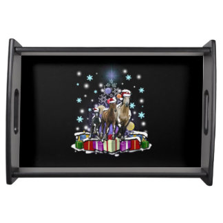 Horses with Christmas Styles トレー