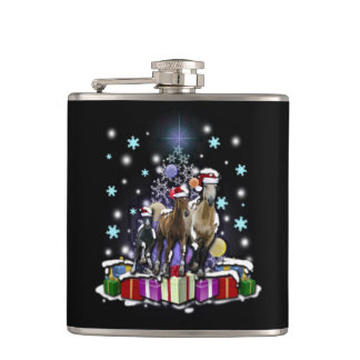 Horses with Christmas Styles フラスク