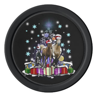 Horses with Christmas Styles ポーカーチップ