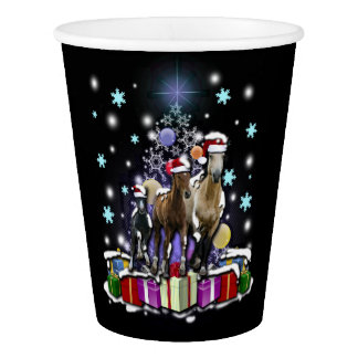 Horses with Christmas Styles 紙コップ