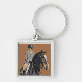 Horseshow Keychainの馬及びライダー キーホルダー