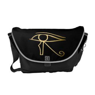 Horusのエジプト人の記号の目 メッセンジャーバッグ