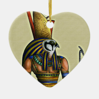 Horusのハートのオーナメント 陶器製ハート型オーナメント