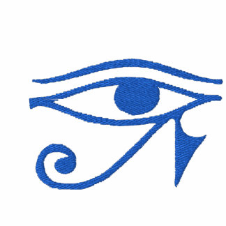 Horusのフード付の刺繍された目 刺繍入りフード付きトレーナー