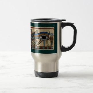 Horusの古代エジプトの芸術のマグの目 トラベルマグ