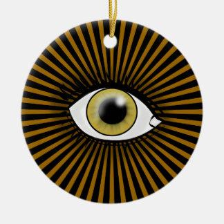 Horusの薄茶色の目 セラミックオーナメント